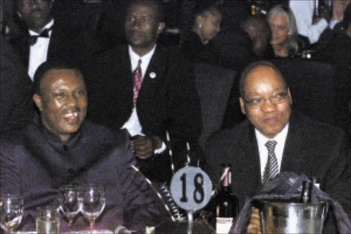 FLASHBACK: Soccer boss Irvin Khoza and President Jacob Zuma at a farewell dinner in Midrand. Inset: At the centre of controversy is Sonono Khoza. Pic: ANTONIO MUCHAVE. 11/05/2004. © Sowetan.