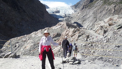 Photo: The Franz Josepf Glacier Valley where I walked is part of the UNESCO World Heritage Park.  It advanced at the rate of 17 feet a week until 2003, but now it's slowly receding.  There are 140 glaciers in the Westland National Park.