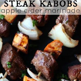 Fall Steak Kabobs with Apple Cider Marinade