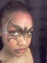 Photo: Bat girl face paint by Teressa, Santa Ana, Ca.Call to booked Teressa for your next event: 888-750-7024