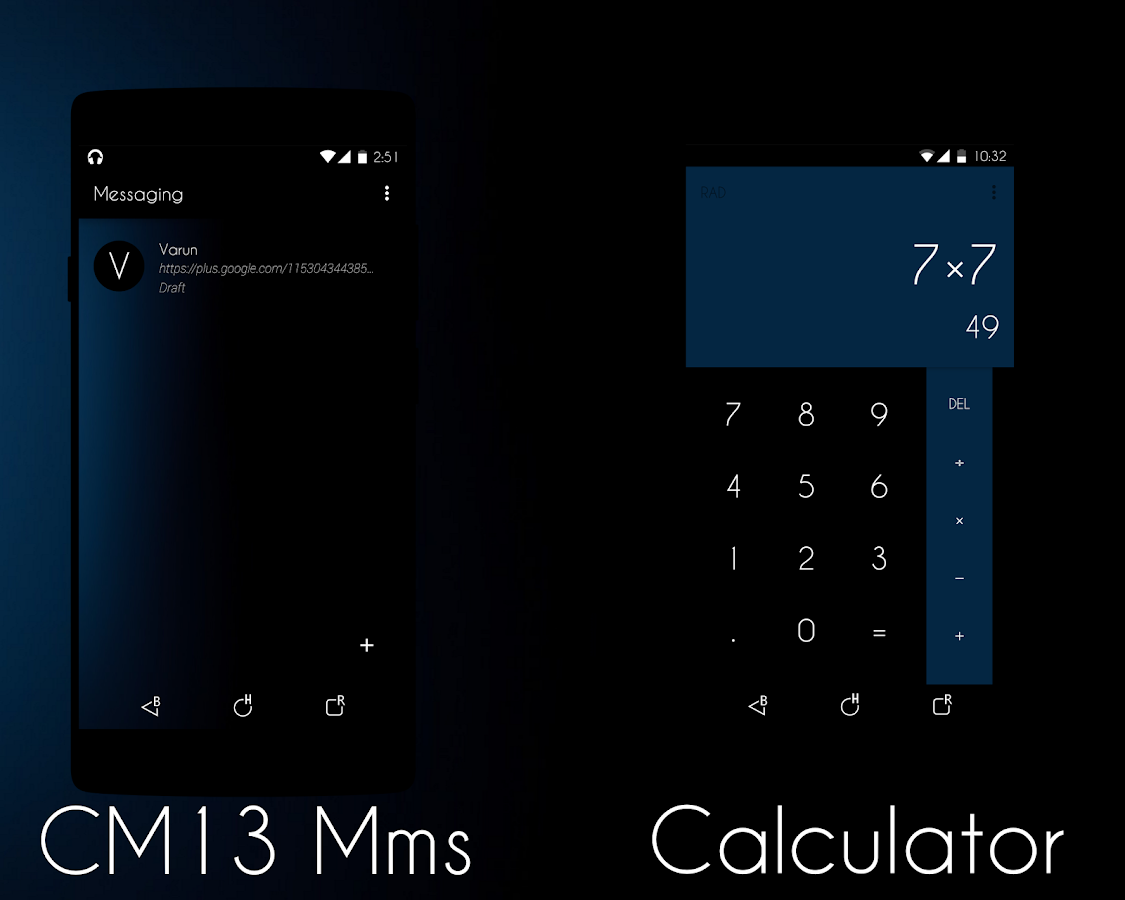 Google themes blue - Blue Tint Cm13 12 Theme Screenshot