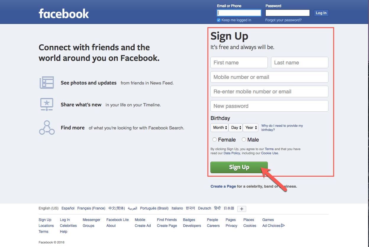 facebook-setup