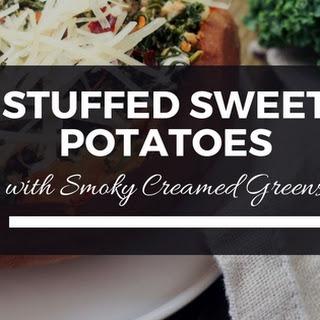 Stuffed Sweet Potatoes with Smoky Creamed Greens.