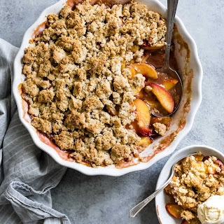 Gluten-Free Brown Sugar Peach Crumble Recipe
