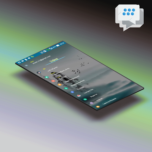 Delta bbm light theme I.O.S Apps (apk) free download for Android/PC/Windows screenshot