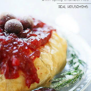 Puff Pastry Baked Brie with Spicy Cranberries Recipe