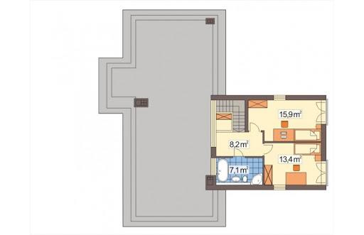 Mango 2 wersja A - Rzut piętra