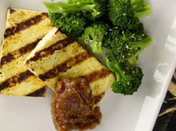 Grilled Curried Tofu With Sweet & Spicy Tamarind Chutney Recipe