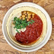 Roasted Tomato & Garlic (Matbuha) Hummus Bowl