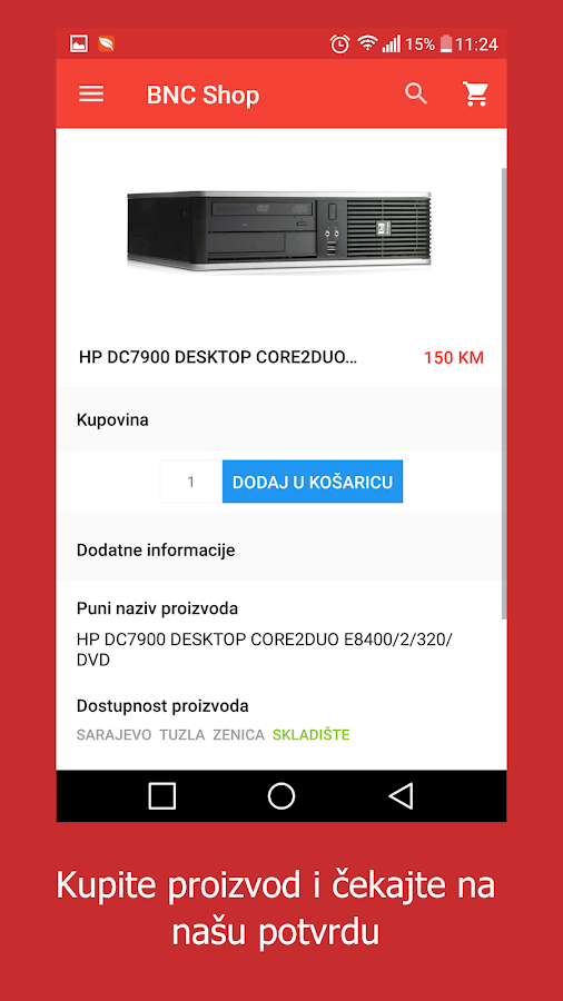 BNC Shop- screenshot