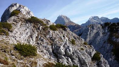 Photo: levo vršiček na grebenu , v sredi Mangrt  desno Jalovec