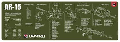 TekMat AR-15 Olivgrön
