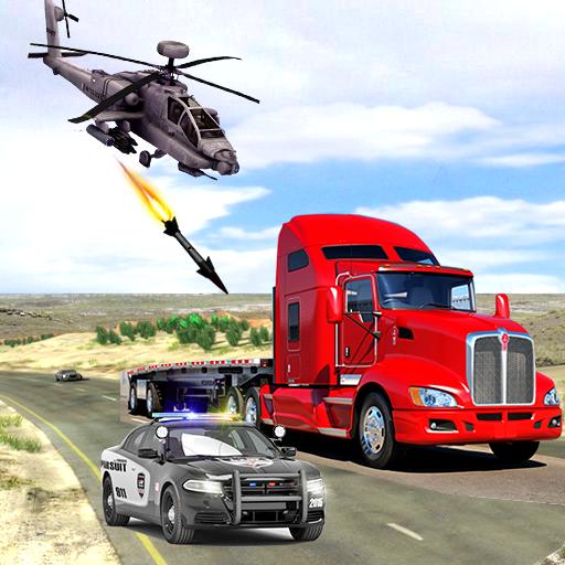 Police Helicopter Chase Vs Car Mafia