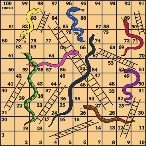 Snake and Ladder Game-Sap Sidi (game)