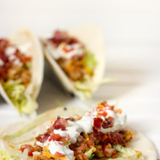 Easy Bacon BBQ Chicken Tacos Recipe in less than 15 minutes!.