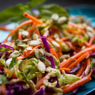 Shaved Brussel Sprout, Cabbage & Carrot Salad.