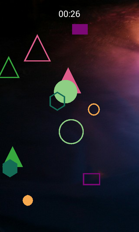 Shapes and Colors Space game- screenshot