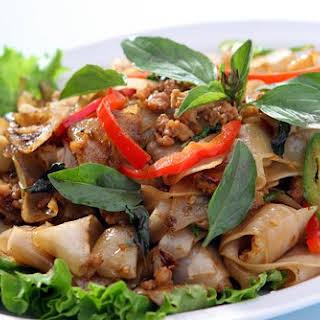 Drunken Noodles - Thai Spicy Stir-Fry Noodles.