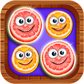 4 Fruits in a Row Puzzle Game