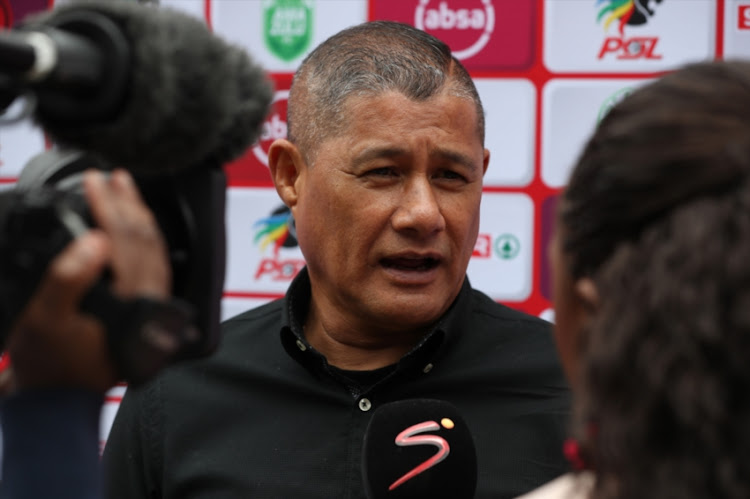 Cavin Johnson (Head Coach) of AmaZulu during the Absa Premiership match between AmaZulu FC and Mamelodi Sundowns at King Zwelithini Stadium on September 16, 2018 in Durban, South Africa.