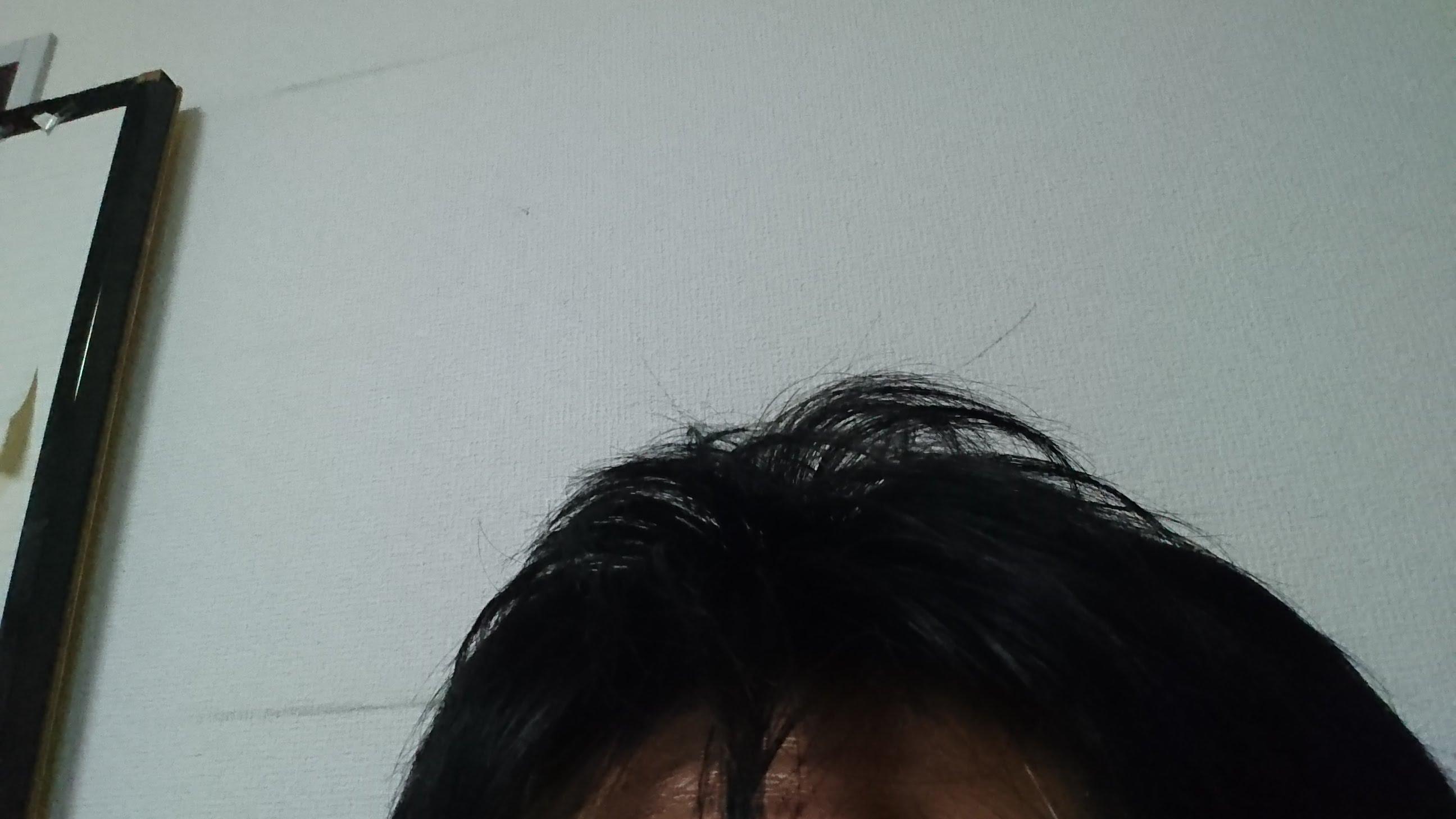 ようやく前髪に白髪が目立ち始めました。