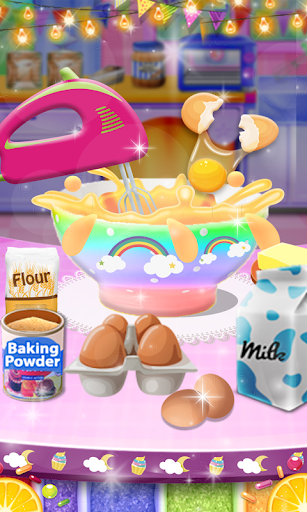 Unicorn Rainbow Cup Cake - Kids Cooking Game image | 13