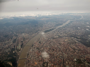 Photo: Gellért hegy és alulról felfelé a hidak: Erzsébet híd, Lánchíd, Mardit híd, Margitsziget
