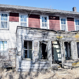 Porch is Giving Up by Jason Lockhart - Buildings & Architecture Decaying & Abandoned ( farm, old house, wisconsin, road trip, fennimore )