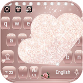 Rose Gold Diamond Love Theme for Keyboard