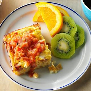 Overnight Ham and Egg Casserole.