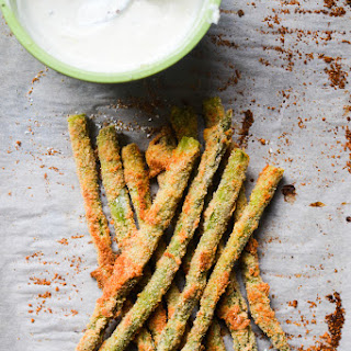 Baked Asparagus Fries with Lemon Pepper Mayo