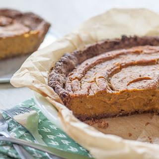 Vegan Date-Pecan Pumpkin Pie