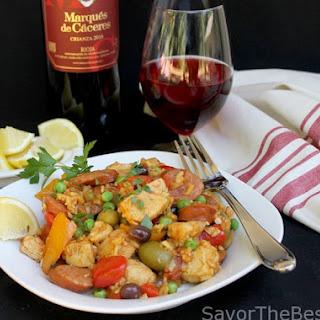 Spanish Chicken-Chorizo Paella
