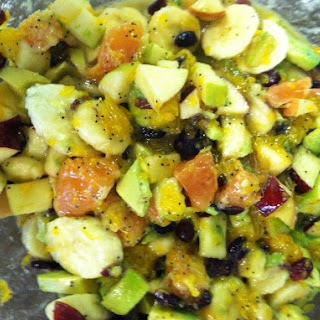 Fruit Salad with Avocado and Toasted Pecans