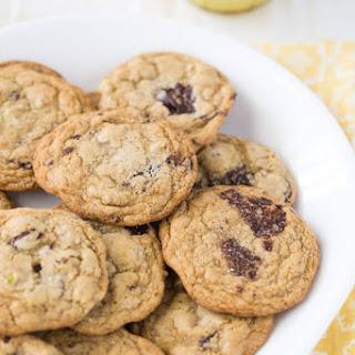 Salted Pistachio Dark Chocolate Chunk Cookies