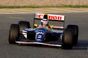 Alain Prost test driving the Williams FW15C