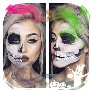 Scary Halloween Face Makeup Photo Editor