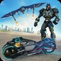 Flying Bat Moto Robot Bike Transform Robot Games icon