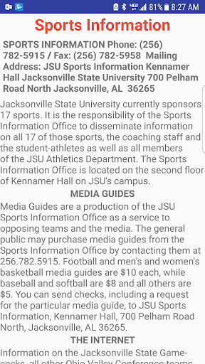 Jacksonville State University Athletics  screenshots 3