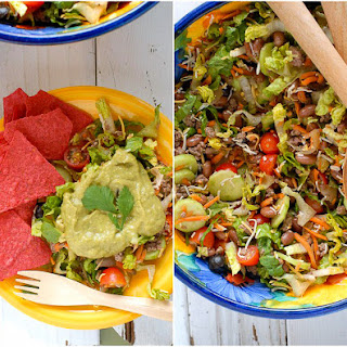 Salad Ole with Avocado-Tequila-Lime Dressing.