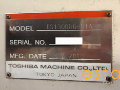 Toshiba IS1300DG-81A (2010) Plastic Injection Moulding Machine