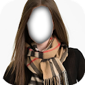 Girls Scarf costume montage photo frames icon