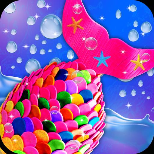 Mermaid Tail Rainbow Cake! Sweet Desserts Bakery (game)