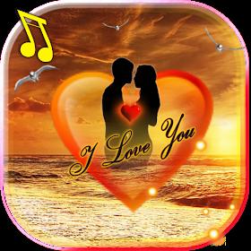 Любовь Море Закат живые обои