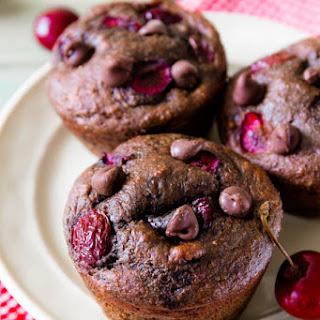110 Calorie Chocolate Cherry Muffins