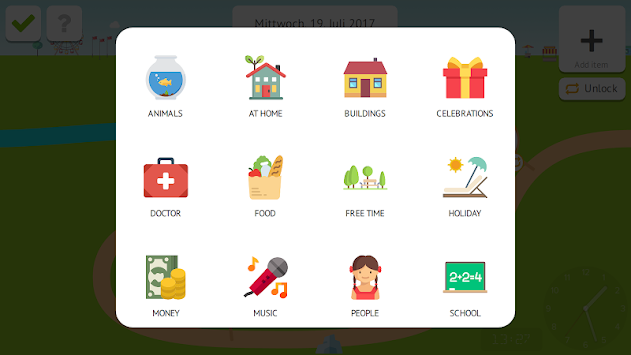 Timeland - Kids Calendar & Clock To Teach TIME apk screenshot