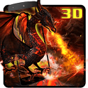 3D Fire dragon icon