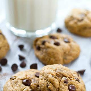 Flourless Cashew Butter Chocolate Chip Cookies.