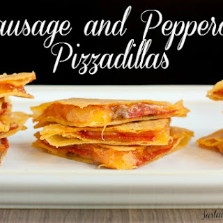 Sausage and Pepperoni Pizzadillas