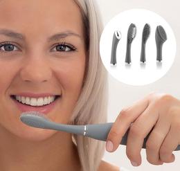 Periuta de dinti sonica din silicon cu accesorii, Klinfor InnovaGoods